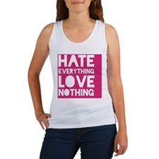 hatelove_magenta(mini) Women's Tank Top