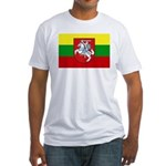 Lithuania w/ coat of arms Fitted T-Shirt