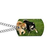 shiba_laptop Dog Tags