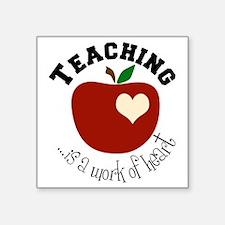 "Teaching Square Sticker 3"" x 3"""