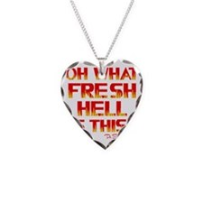 red yel, Fresh Hell, chi live Necklace Heart Charm