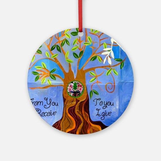tree for joyce Round Ornament