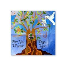 "tree for joyce Square Sticker 3"" x 3"""