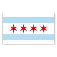 Chicago Flag Rectangle Bumper Stickers