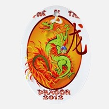 Year Of The Dragon-2012 Oval Trans Oval Ornament