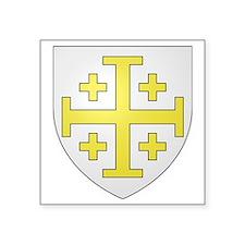 "kingdom of jerusalem large Square Sticker 3"" x 3"""