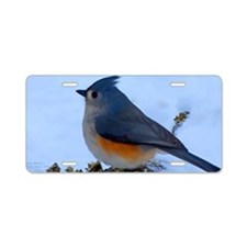 Snow Bird Aluminum License Plate