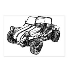 dune buggy pencil Postcards (Package of 8)