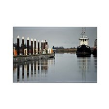 Tugs of La Conner © AD Richards 0 Rectangle Magnet
