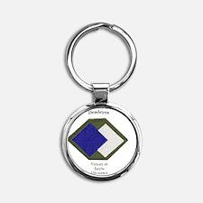 DEyes copy Round Keychain