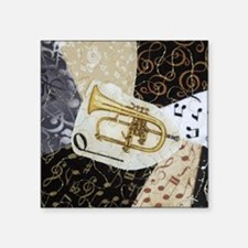 "flugelhorn-ornament Square Sticker 3"" x 3"""