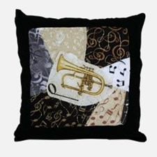 flugelhorn-ornament Throw Pillow