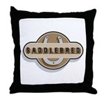 American Saddlebred Horse Throw Pillow