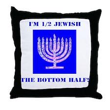 Half Jewish 3 2 clear Throw Pillow