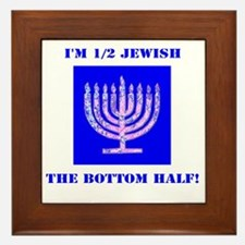 Half Jewish 3 2 clear Framed Tile
