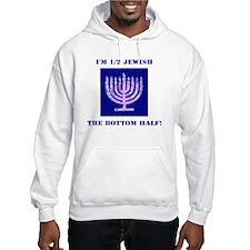 Funny Half Jewish the Bottom 1/2 Hoodie