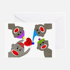sock monkey blanket Greeting Card