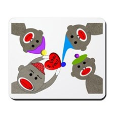 sock monkey blanket Mousepad