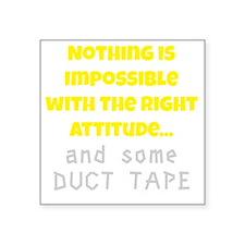 "Duct Tape Square Sticker 3"" x 3"""
