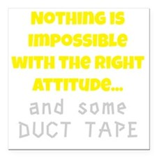 """Duct Tape Square Car Magnet 3"""" x 3"""""""
