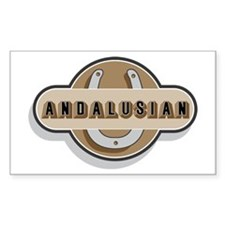 Andalusian Horse Rectangle Decal