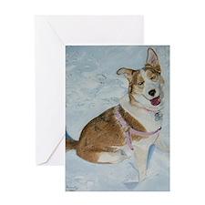 blue_dog_framed_print Greeting Card