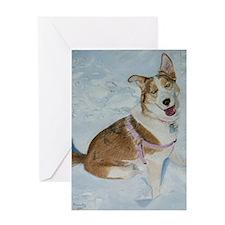 blue_dog_16x20_print Greeting Card
