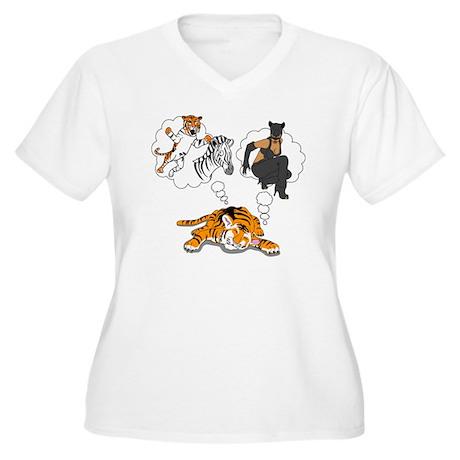 whatdotigersdream Women's Plus Size V-Neck T-Shirt