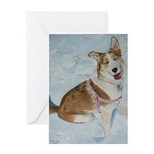 blue_dog_lg_framed_print Greeting Card