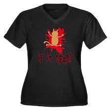 isitdead Women's Plus Size Dark V-Neck T-Shirt
