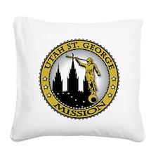 Utah St. George LDS Mission A Square Canvas Pillow