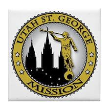 Utah St. George LDS Mission Angel Mor Tile Coaster