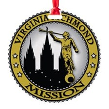Virginia Richmond LDS Mission Angel Ornament