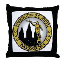 Washington D.C. South LDS Mission Ang Throw Pillow