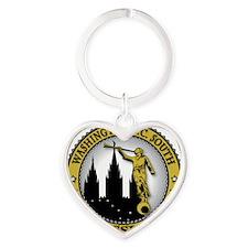Washington D.C. South LDS Mission A Heart Keychain