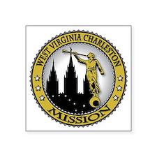 "West Virginia Charleston LD Square Sticker 3"" x 3"""