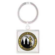 Wisconsin Milwaukee LDS Mission An Square Keychain