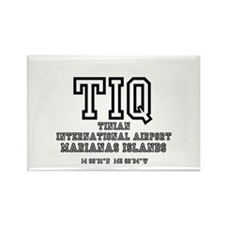 AIRPORT CODES - TIQ - TINIAN, MAR Rectangle Magnet