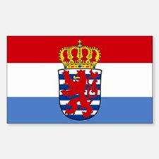 Luxembourg w/ coat of arms Rectangle Decal