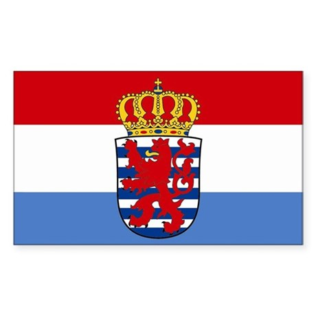 Luxembourg w/ coat of arms Rectangle Sticker