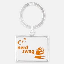 nerd swag3 Landscape Keychain