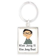kim jong dead gails 2 Portrait Keychain