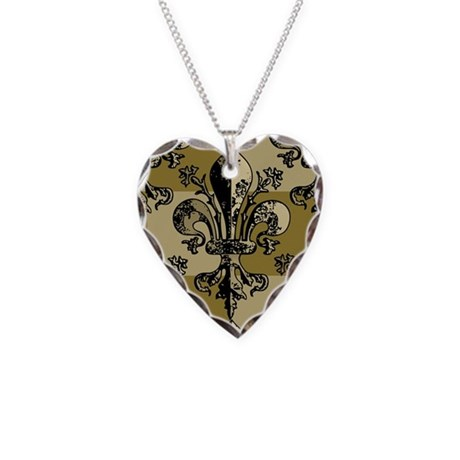 AntiqFleurGsc443iph Necklace Heart Charm