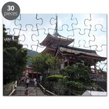 watercolor painting of kyoto Puzzle