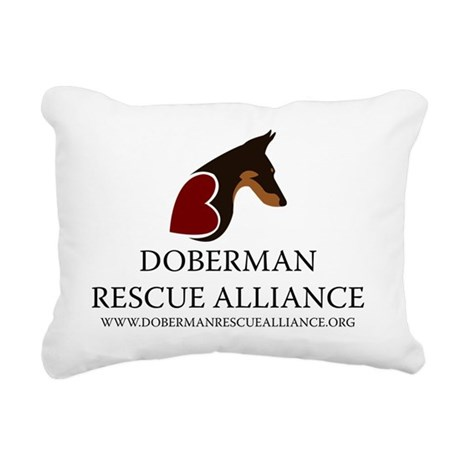 DRA_vertical_web_address Rectangular Canvas Pillow