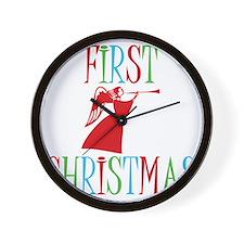 First-Christmas Wall Clock