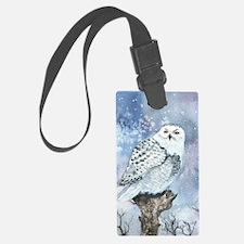 Snowy Owl Luggage Tag