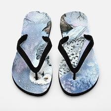 Snowy Owl Flip Flops
