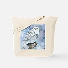 snowy owl square Tote Bag