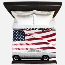 Charger USA flag King Duvet